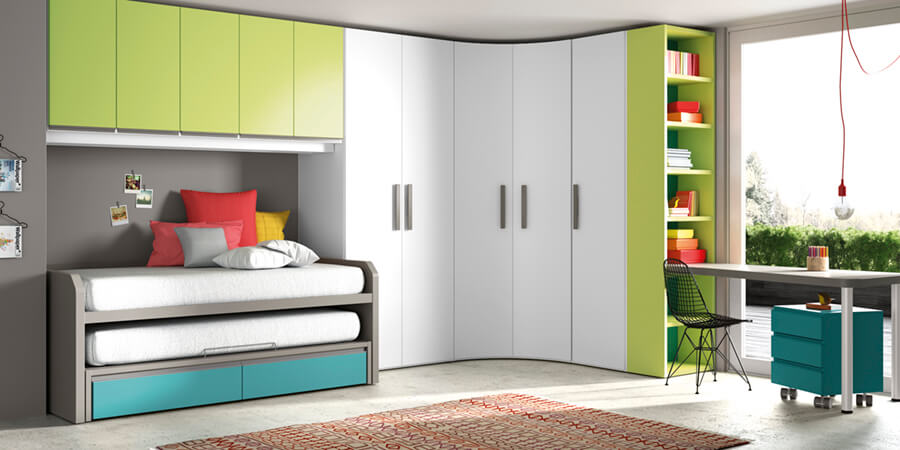 Cama Nido Dormitorio Juvenil - Ref: DORJ053