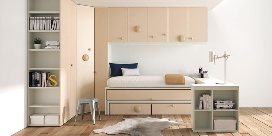 Camas Nido Dormitorios Juveniles - Ref: DORJ048