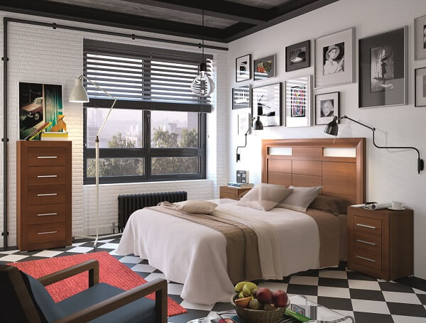 Decoración de Dormitorios de Matrimonio Modernos - Ref: DORMM008