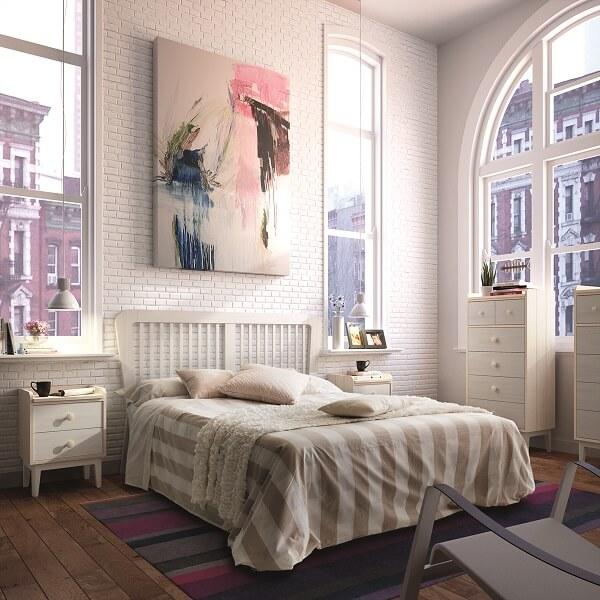 Dormitorio de Matrimonio de Diseño - Ref: DORMM009