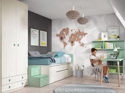 Muebles Habitaciones Juveniles - Ref: DORJ071