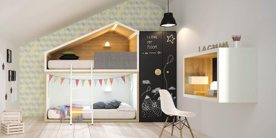 Muebles Madera Dormitorios Juveniles - Ref: DORJ039