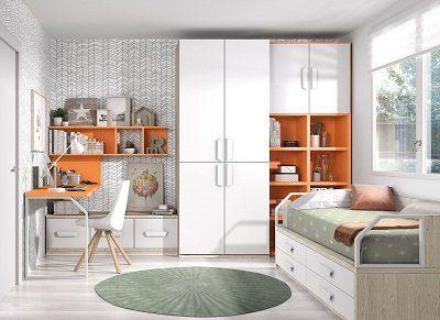 Muebles Madera Habitacion Juvenil - Ref: DORJ068