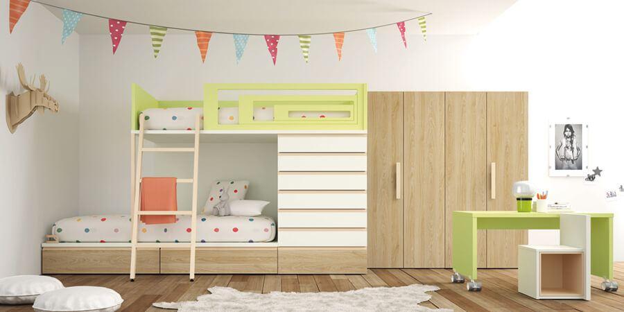 Muebles Madera Habitaciones Juveniles - Ref: DORJ051