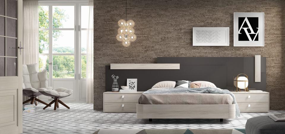 Muebles para Habitaciones de Matrimonio Modernos - Ref: DORMM025